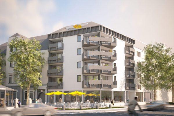 Friedrich-Ebert-Platz Visualisierung Mehrfamilienhaus