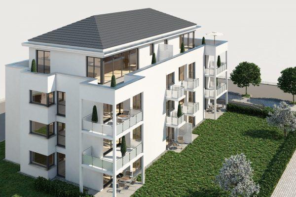 Grossacker Mehrfamilienhaus Visualisierung